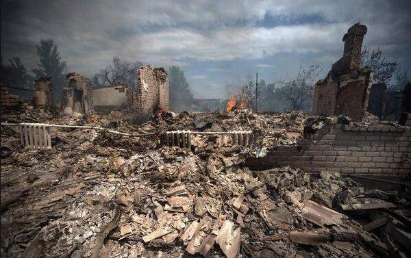 Руины бывшей столицы Донецкой области