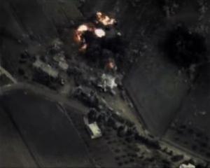 Изображение нападения с кадрами Министерства обороны России