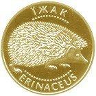 Золота українська монета номіналом дві гривні із зображенням ЇЖАКА (2006)