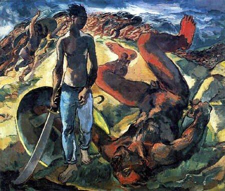 Albert Weisgerber (1914). «Давид і Ґоліят»