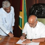 Contesting parties sign Elections Code of Conduct; Granger questions PPP's sincerity