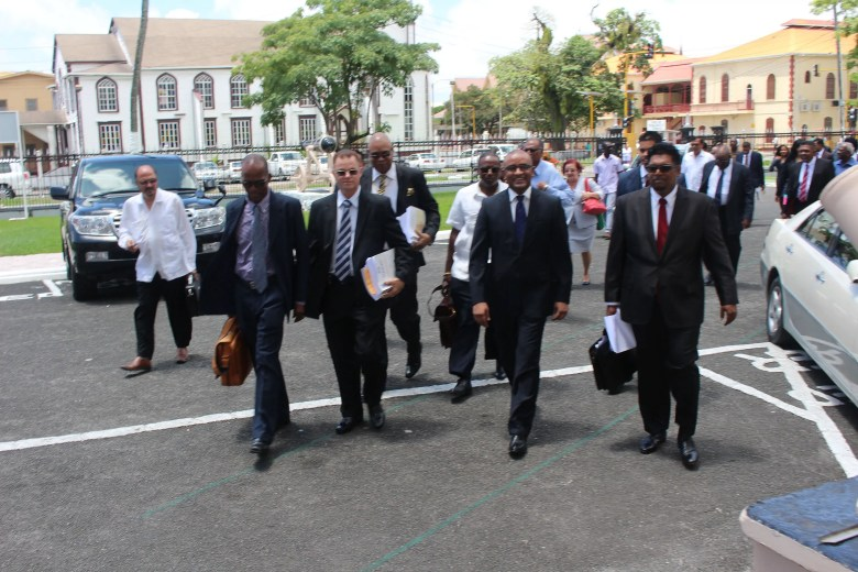 The Arrival  (Stabroek News photo)