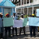 City Hall workers protest against their Union as the Union protests against City Hall