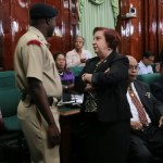 "BREAKING:  Police called in as ""out of order"" Edghill refuses to leave Parliamentary Chambers on Speaker's orders"