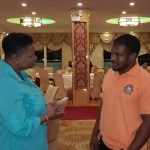 Minister Volda Lawrence offers apology to one of the security guards in parking lot fracas with Broomes