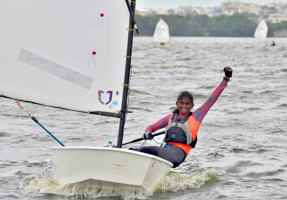 It is Jhansi Priya Laveti all the while on the fourth day of the Monsoon Regatta