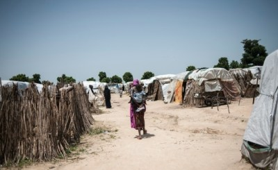 A makeshift camp which houses internaly displaced people IDPs - 17 children born in Anambra IDP camps