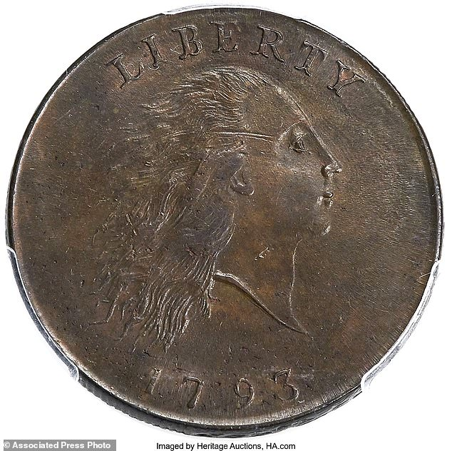 1793 penny - First copper coins on sale at auction in Florida