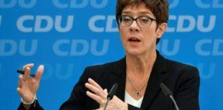 German Defence Minister Annegret Kramp Karrenbauer
