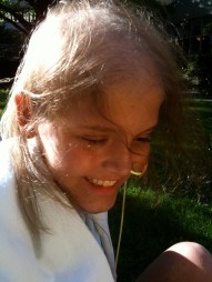 Jesi aged 12 in the Prouty Garden