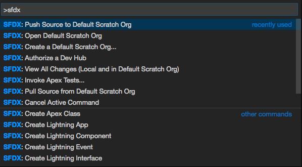 SFDX in Salesforce commands