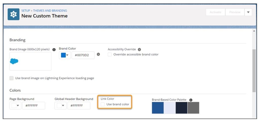 Assign Custom Colors to Hyperlinks Salesforce Summer 19
