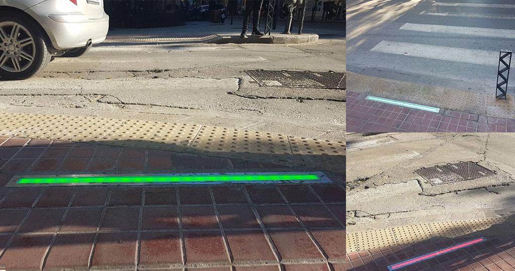 Η Θεσσαλονίκη έβαλε φανάρια για πεζούς στο έδαφος