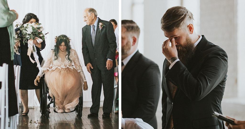 Παράλυτη νύφη εντυπωσιάζει τους πάντες όταν σηκώνεται και περπατά στο γάμο της