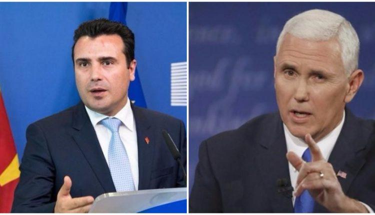 «Μακεδόνα πρωθυπουργό», χαρακτήρισε τον Ζόραν Ζάεφ ο αντιπρόεδρος των ΗΠΑ Μάικ Πένς