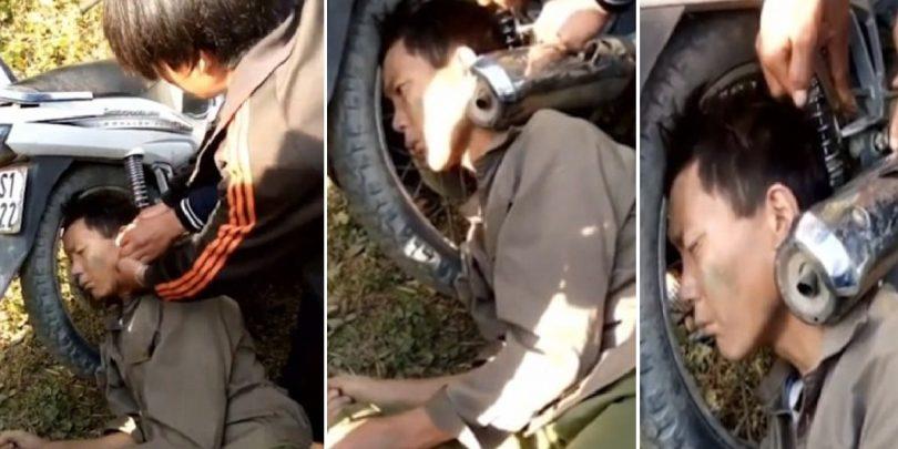 Άντρας πήγε για ένα ποτάκι και ξύπνησε με το κεφάλι σφηνωμένο σε εξάτμιση μηχανής