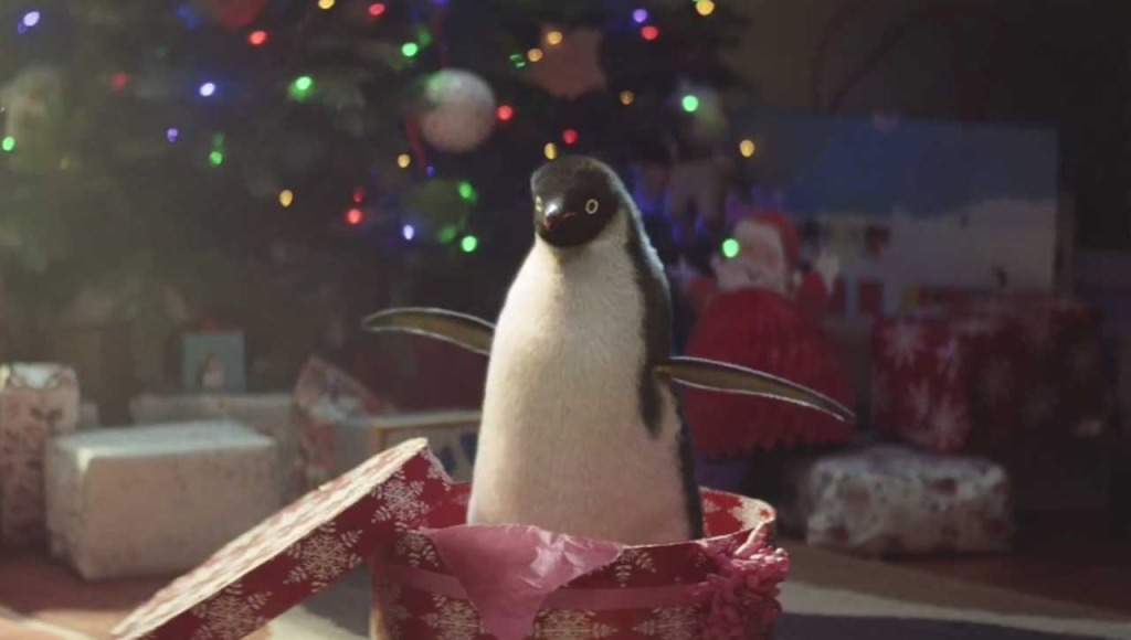 The John Lewis christmas penguin is a drawcard