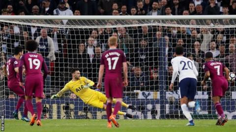 Man City one win from title after victory at Tottenham 16