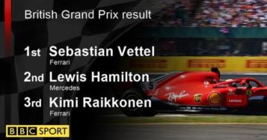 Vettel wins British GP as Hamilton fights back after collision 3