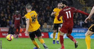 Wolves 0-2 Liverpool: Mohamed Salah helps Reds go four points clear 2
