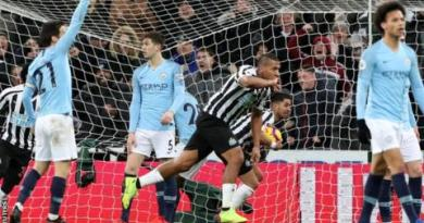 Newcastle United 2-1 Manchester City 3