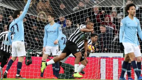 Newcastle United 2-1 Manchester City 1