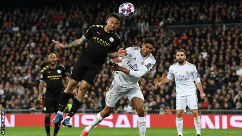 Real Madrid 1-2 Manchester City: Gabriel Jesus & Kevin de Bruyne give City win in first leg 1