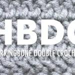 Herringbone Dc Hbdc Crochet New Stitch A Day