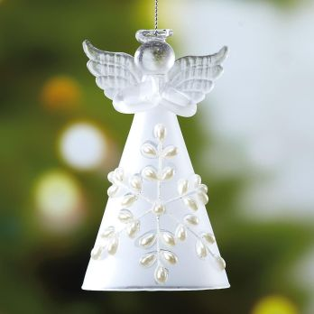Angel Ornament that represents Luke's recording of the singing angels announcing the Savior's birth.