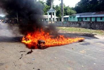 आन्दोलनकारीहरुद्वारा पेट्रोल नष्ट