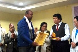 सप्तरीका राजेश विद्रोही उत्कृष्ट टपटेन कथा पुरस्कारबाट सम्मानित