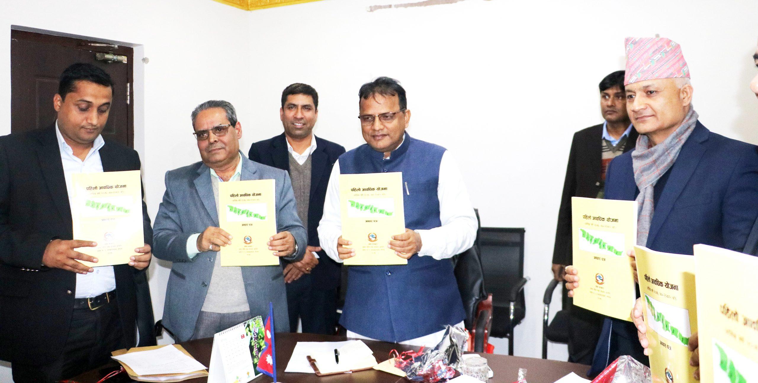 प्रदेश सरकारको पञ्चवर्षिय योजनाको आधारपत्र सार्वजनिक
