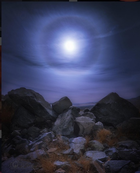 Halo around full moon DE