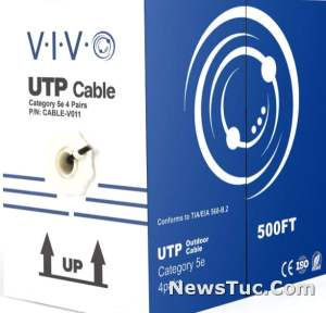 VIVO Black 500 Feet Cat5e Waterproof Direct BurialEthernet Cable