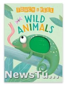 A Touch and Feel Wild Animals Baby Toys Book