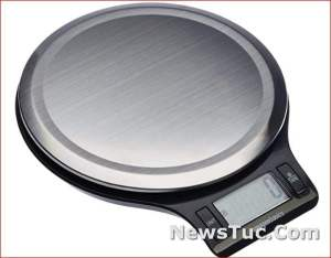 Stainless Steel Amazon Basics LCD Display Kitchen Digital Scale