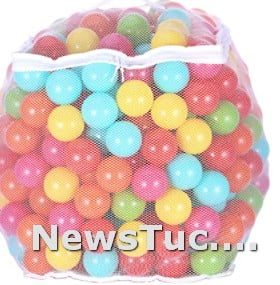 Non-Toxic 6 Bright Colors Crush-Proof Phthalate-Free Play kids Plastic Ball