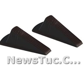 Brown Giant Clearance Securely Master Manufacturing 2-Pack Heavy Duty Rubber Wedge Foot Door Stop