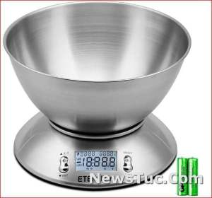 Timer and Temperature Sensor with Bowl Etekcity Food Digital Scale