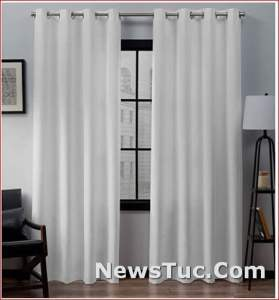 Exclusive Home Curtains Winter White Loha Panel Pair Window Curtains