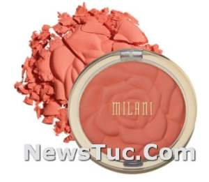 Shimmery Color Coral Cove Milani Rose Blush Highlighter Powder