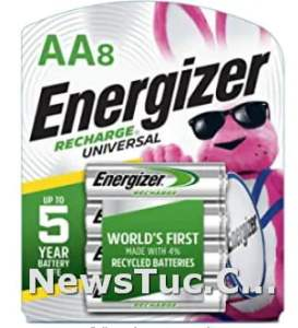 Pre-charged Energizer 2000 mAh NiMH Rechargeable AA Batteries