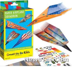 Fold and Fly Whoosh Easy Paper Airplanes Paperback Toy
