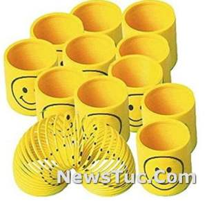Pack of 12 Amscan Smiley Party FavorKids Walking Spring Toy