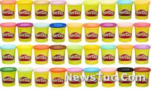 Non-Toxic Play-Doh Modeling Compound 36 Pack 3 Oz Cans Case of Colors
