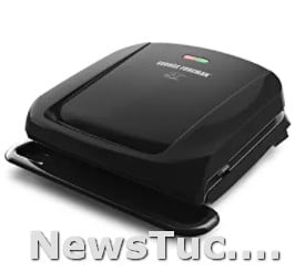 Non-stick coating Black George Foreman 4-Serving Removable Panini Press Plate Grill