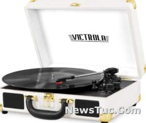 Extra Stylus Victrola Vintage Portable Suitcase Record Player