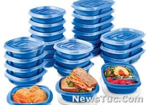 Marine Blue Set of 25 Rubbermaid Take Alongs Meal Prep Food Storage Containers