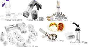 Top Stainless Steel multi-Disks multi-shapes Cookie Press