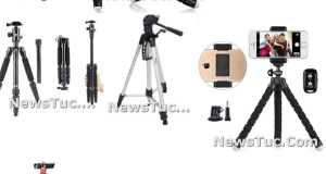Top Devices-Holder Black Lightweight Ball Head Travel Tripod Stand